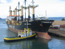 Container Ship In Antsiranana Harbour