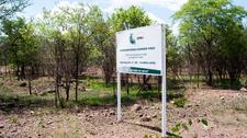 Pandamatenga Border Post Sign