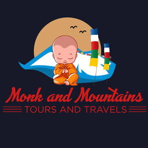 Monk And Mountains