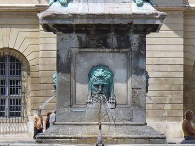 Fountain And Sculptures