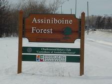 Assiniboine Forest Sign
