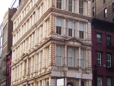 The Building's Facade On The Bowery