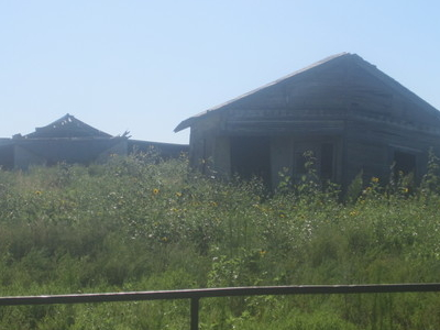 Abandoned Buildings South Of  Childress