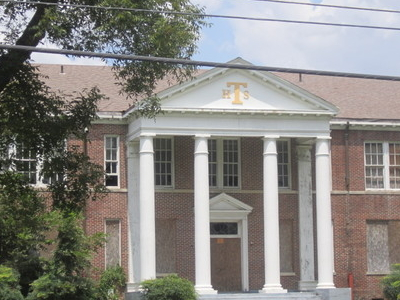 Abandoned  Tallulah  High  School Across From  Walnut  Bayou