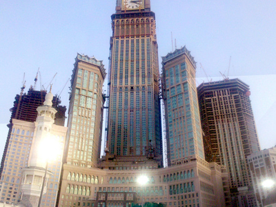 Abraj Al Bait Towers Under Construction