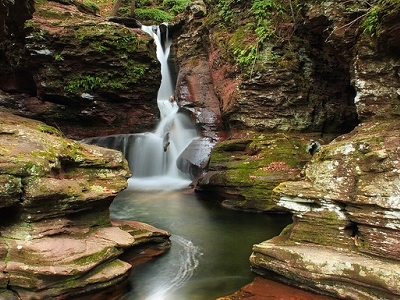 Adams Falls Over Kitchen Creek - Ricketts Glen State Park PA