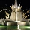 Fountain In Victoria Square At Night