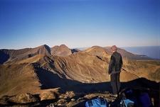 Admiring Fagaras Mountains