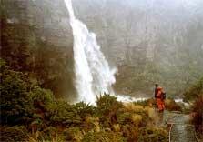 Admiring Taranaki Falls