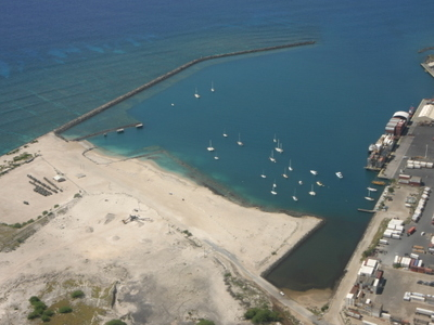Aerial  Kawaihae  Harbor  Big  Island  Hawaii