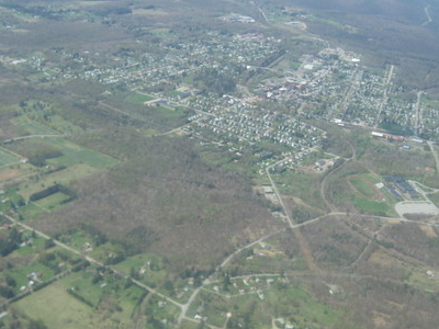 Aerial Shot Of  Kane Looking Northwest