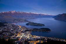Aerial View Of Queenstown - South Island NZ