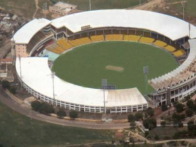 Aerial View Of Sardar Patel Stadium