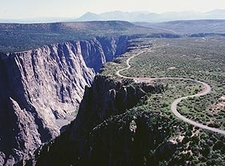 Aerial View Of South Rim Road