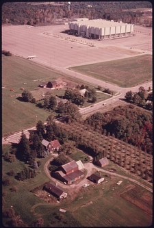 Aerial View Of The Coliseum And Neighboring Farms