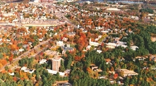 Aerial View Of The Town Of Brunswick