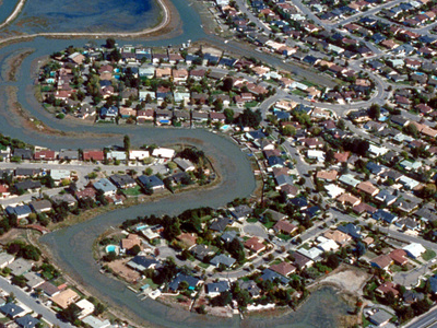 Aerial View Of The Mariner Cove Subdivision Of Corte Madera