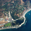 Aerial View Of Downtown Malibu And Surrounding Neighorhoods