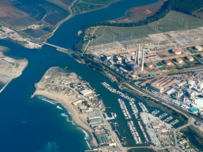Aerial View Of Moss Landing California