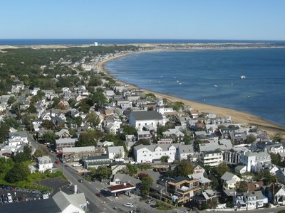 Aerial View Of Provincetown Cape Cod