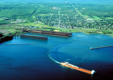 Aerial View Of Two Harbors