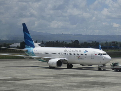 A Garuda Indonesia Aircraft At Airport