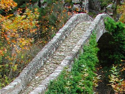 Bridge At Agrafa Mountains