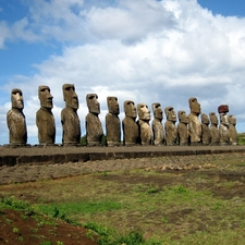 Moai Ahu Excavated And Restored In 1990s