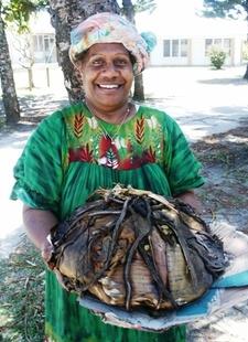 A Kanak Woman With Bougna