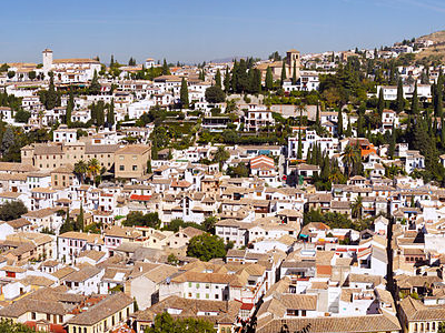 Albayzn District In Granada Spain.