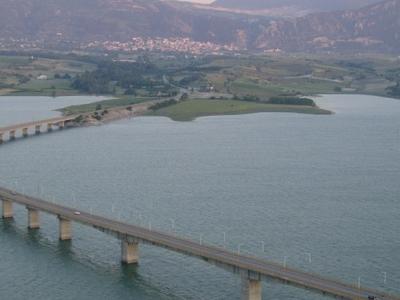 The Bridge Over The Polyfytos Artificial Lake