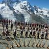Alphorn-Weltrekord Gornergrat - Switzerland