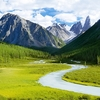 Altai Mountains Landscape - Russia-China-Mongolia Border