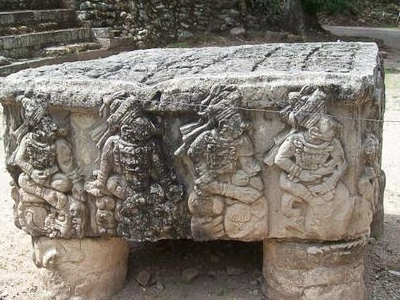 Altar Q At Copan, Honduras