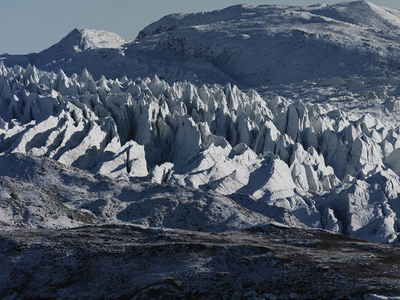 Amazing Kangerlussuaq Mountain Glaciers