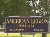 American  Legion In  El  Campo