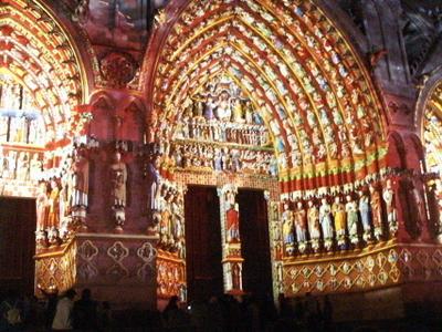 The Western Entrance Illuminated