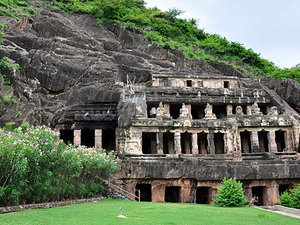 Rock Cut Cave Temple - Undavalli