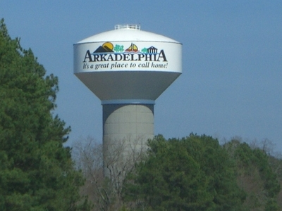 An Arkadelphia Watertower Seen From Interstate