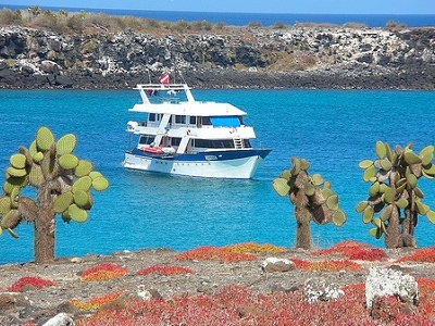 Anchored Off North & South Plaza Island - Galapagos Ecuador