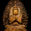 Ancient Buddha Statue In Tokyo Temple