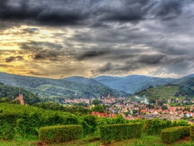 Andlau Village In Vosges Mountains - Alsace France