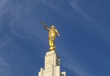 Angel Moroni Statue At Idaho Falls Temple ID