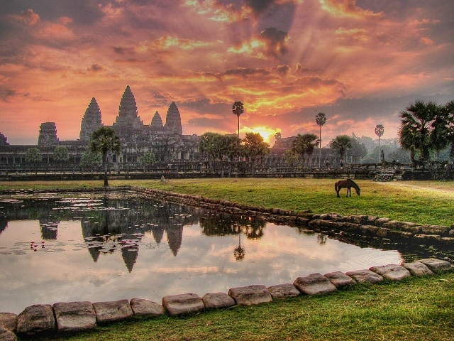 Sunrise at Angkor Wat Photos