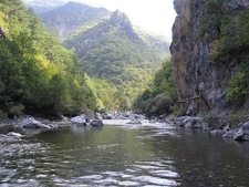 Aoos River Valley In Vikos-Aoos National Park