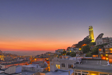 A Picture Of Coit Tower At Sunset