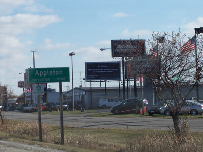 Appleton Wisconsin D O T Sign