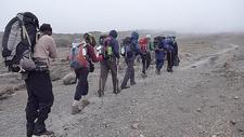 Approaching Kibo Hut - Rongai Route - Kilimanjaro