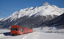A Push Pull Train Typical Of The Engadin Line