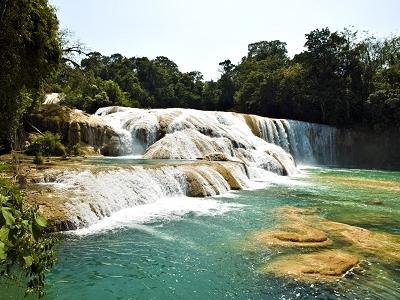 Aqua Azul Waterfall In Chiapas